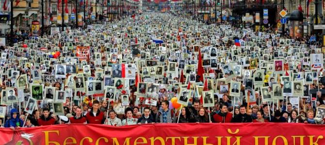 Бессмертный полк Санкт-Петербург 9 мая 2015