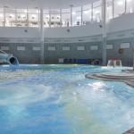 Бассейн с элементами аквапарка